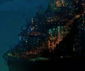 art, city, and fantasy image