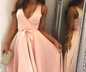 prom dress, pink prom dress, and cute prom dress image
