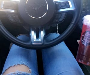 car, jeans, and red image