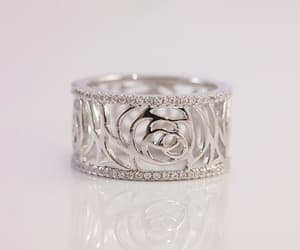 Pave, ring, and silver image