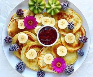 blackberries, flowers, and food image