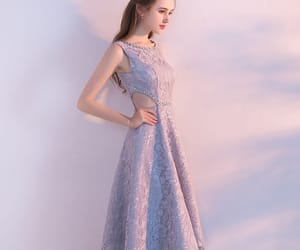 girl, lace dress, and formal dress image