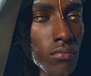 eyes, gold, and melanin image