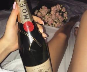 flowers, luxury, and moet image