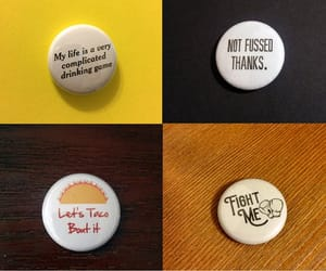 buttons, etsy, and tacos image