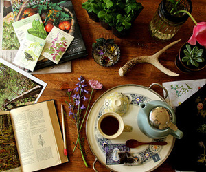 books, girly, and tea cup image