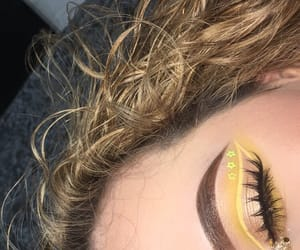 beauty, makeup, and yellow image
