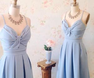 cute party dress, party dress blue, and homecoming dress a-line image