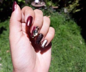 chic, nail, and glitter nails image
