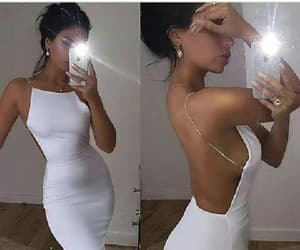 white party dress, short party dress, and sexy party dress image
