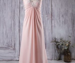 pink bridesmaid dresses, long bridesmaid dresses, and strapless wedding dresses image
