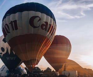 balloon, magic, and sunset image
