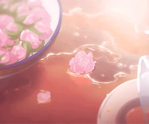 aesthetic, flowers, and anime image