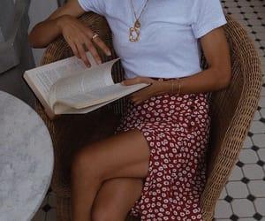 fashion, book, and skirt image