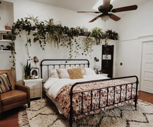 bed, style, and bedroom image