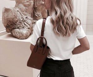 art, bag, and girl image