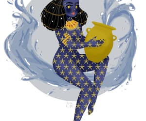aquarius, astrology, and water bearer image