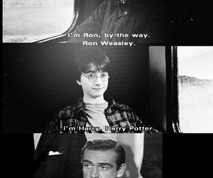 harry potter, James Bond, and ron weasley image