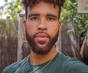 artist, melanin, and beard image
