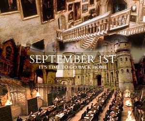 harry potter, September, and hogwarts image