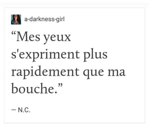 french, quote, and tumblr quote image
