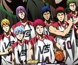 anime, Basketball, and blue image