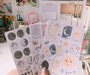 journal, school, and stickers image