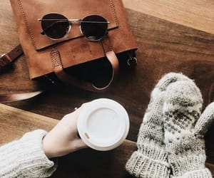 bag, coffee, and sweater image