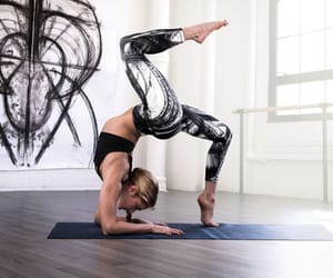 fit, yoga poses, and fitness image