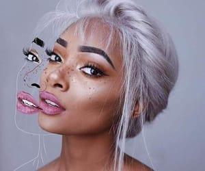 girl, makeup, and art image