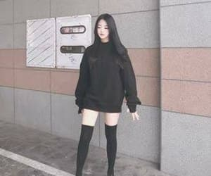 black, korean, and aesthetic image