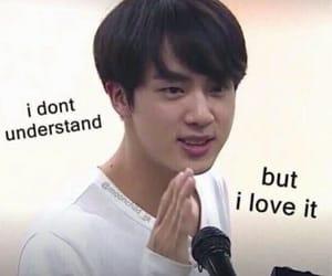 meme, bts, and jin image
