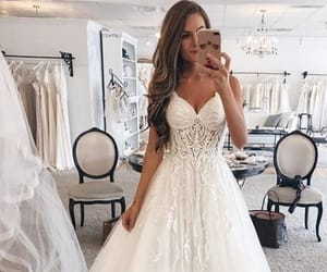 girl, brautiful, and weddingdress image