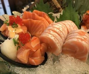 fish, raw, and salmon image