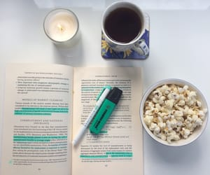 candle, coffee, and college image