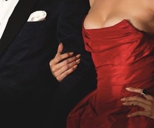 couple, red, and dress image