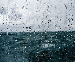 rain, sea, and ocean image