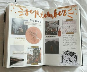 autumn, journal, and journaling image