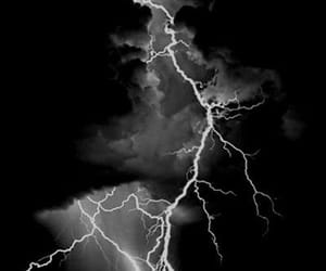 black and lightning image