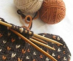 fall and knitting image