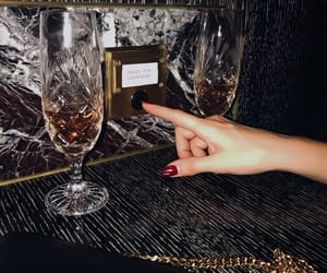 champagne, nails, and girly image