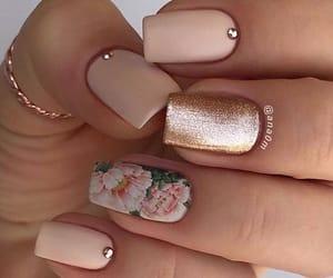 nails, nail art, and floral image