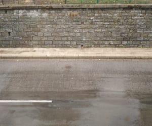 rain, wall, and street image