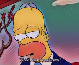 words, hurt, and simpsons image