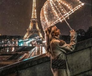 paris, girl, and lights image