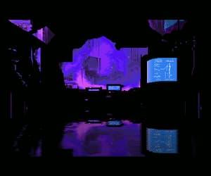 90's, purple, and vaporwave image