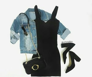 jeans, nero, and chic image