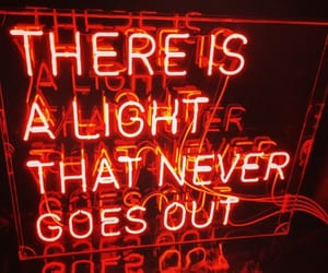 neon, red, and light image