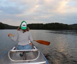 canoe, travel, and canoetrip image