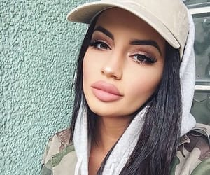 beautiful woman, beauty, and look image